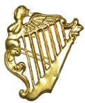 Irish Brigade Metal Kepi Insignia Badge